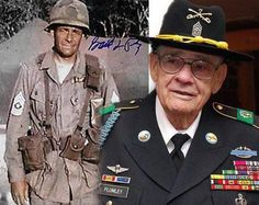 "Retired Com Sgt Maj Basil L. Plumley, former com sgt mjr of 1st Btn, 7th Cav Reg ""Garryowen,"" 1st Cav Div, died from colon cancer Oct 10th in Columbus, Ga. He enlisted in the Army 3/31/42 & retired 12/31/74. He is a vet of WWII in Operation Husky, Battle of Salerno, Battle of Normandy & Operation Market-Garden. He is also a vet of Korean & Vietnam Wars. Plumley served as the command sgt maj of 1-7 Cav during Vietnam & the Battle of Ia Drang. He was portrayed by Sam Elliot in ""We Were…"
