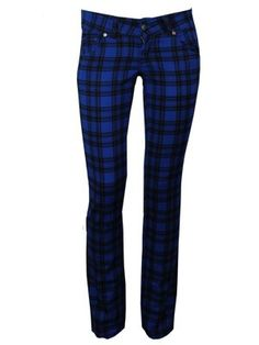Keep your style in check with these sensational checked skinny jeans. In black and royal blue, these Jist jeans will look make sure that you stand out from the crowd. Officially licensed.