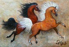 Bas relief Arabian horse painting, now residing in Abu Dhabi.