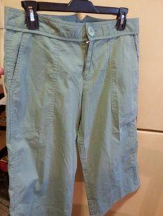 Marc Jacobs Green Stretch Capri Pants. Womans Sz 8 #MarcJacobs #CaprisCropped