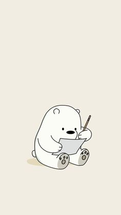 Kawaii Ice Bear Iphone We Bare Bears Wallpaper Cute Disney Wallpaper, Cute Cartoon Wallpapers, Kawaii Wallpaper, Doraemon Wallpapers, Ice Bear We Bare Bears, We Bear, Cute Wallpaper Backgrounds, Wallpaper Iphone Cute, Wallpaper Quotes