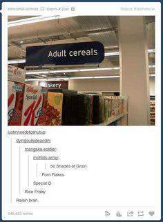 Adult cereals, Walmart, porn flakes, shades of grey, funny, lol