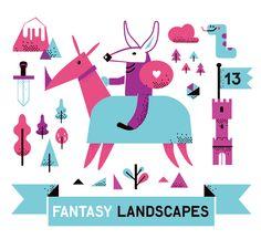 fantasy landscapes on Behance