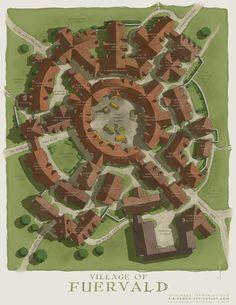 The Village of Fuervald by SirInkman on DeviantArt