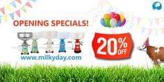 Our milk processing equipment store is OPEN! Guys, we have opened and we are so excited!!! We continue to improve it. But if we have something you need, you can already buy it.  If you are in first 5 our customers you will get discount of 20%. Just go to Milkyday.com and use this discount code: 1STFIVE Cheers;)