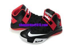 379eb2e3844 Nike Lebron Soldier VI Shoes Black Red White Lebron James  Shoes  halfoff