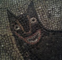 "Detail of the ""wolf"" from a Roman mosaic, 300-400CE, Isurium Brigantum…"