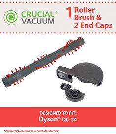 High Quality Roller Brush Assembly Designed To Fit #Dyson #DC24 Ball Uprights. Compare To Dyson Part # 917390-02, 917390-01. 2 Dyson DC24 Roller End Caps. Designe...
