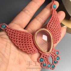 我要飞得更高-2 第53步 Collar Macrame, Macrame Colar, Macrame Bag, Macrame Necklace, Macrame Knots, Macrame Jewelry, Macrame Bracelets, Micro Macrame Tutorial, Macrame Bracelet Patterns