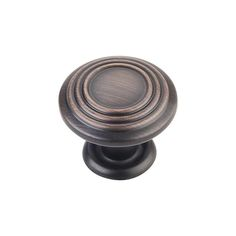 This brushed oil rubbed bronze finish cabinet knob with spiral design is a part of the Vienna Series from the Elements Collection by Hardware Resources. A perfect blend of craftsmanship in traditional and contemporary design to complement any decor.