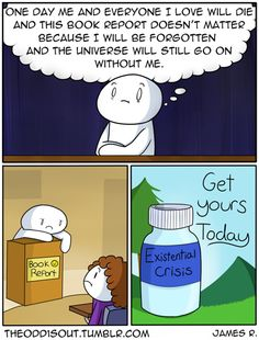 "theodd1sout: ""Ask your psychiatrist if existentialism is right for you Full Image Facebook Twitter """