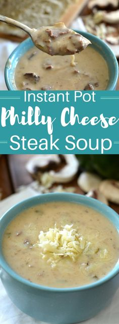Instant Pot Philly Cheesesteak Soup