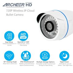 Archeer 832 720P HD WiFi Network Cloud Camera Indoor/Outdoor Security Bullet Camera  Worldwide delivery. Original best quality product for 70% of it's real price. Buying this product is extra profitable, because we have good production source. 1 day products dispatch from warehouse. Fast...