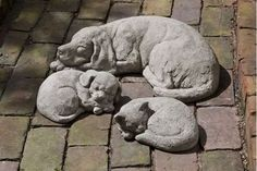 Curled Dog Statue (Small)