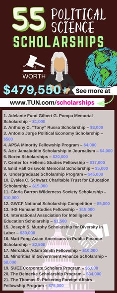 Political Science Scholarships Here is a selection of Political Science Scholarships that are listed on TUN. – College Scholarships Tips School Scholarship, Scholarships For College, Education College, College Students, College Courses, Dr Who, Online College Degrees, Importance Of Time Management, College Hacks