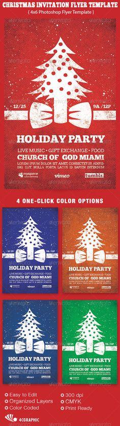 Christmas Invitation Flyer Template - $6.00