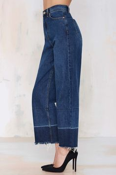 Denim - Mad Crops Wide Leg Jean