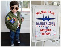 "When you name your son Maverick, you need to throw him a ""Top Gun"" party. So we did just that and had a ""Top Gun"" birthday party. Boy First Birthday, Boy Birthday Parties, Top Gun Party, Airplane Party, First Birthdays, Just In Case, Deco, Party Ideas, Lego Lego"