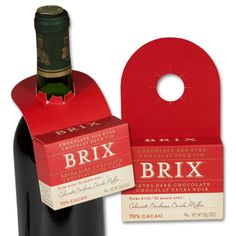Brix Chocolate Extra Dark Bottle Topper. Chocolate for Wine. Pairs with Cabernet Malbec Barolo. Gift Ideas. Entertaining. Fun. Kosher.