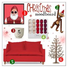 """Xmas Moodboard"" by lovethesign-eu ❤ liked on Polyvore featuring interior, interiors, interior design, home, home decor, interior decorating, red, Home, christmasgift and christmasmoodboard"