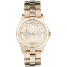 Marc By Marc Jacobs Baby Dave Gold Watch $389