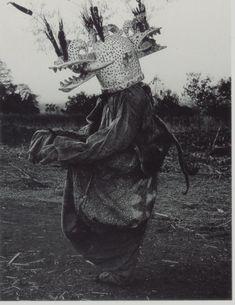 Senoufo Mask Wanyugo Les Sénoufo distinguent le petit monde dans lequel les humains vivent et l'immensité pleine de forces inconnues. Ce masque sert d'intermédiaire entre ces deux mondes et une boule de substance magique placée sur le front ou dans la gueule du masque symbolise les forces du mal.