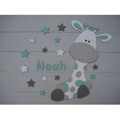 babykamer decoratie: houten letters voor op kast, deur, muur of, Deco ideeën