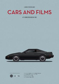 Poster of Knight Rider car. Illustration Jesús Prudencio. Cars And Films