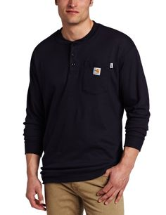 ea357875c4f Take a look at the Carhartt Flame Resistant Long Sleeve Henley Shirt.