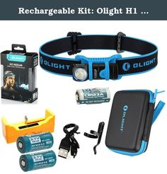 Rechargeable Kit: Olight H1 Nova 500 Lumen LED Headlamp Detachable Compact Flashlight with 2 pack 16340 RCR123A Rechargeable Batteries and LegionArms USB Charger (LED-1: Neutral White). The H1 Nova is a headlamp and pocket light all in one. The H1 has a monumental 500 lumens and is smaller than the average pinky finger. With the detachable headband and included pocket clip, this is the most versatile flashlight on the market allowing it to attach to a pocket or backpack strap for hands…