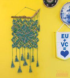 Tutorial Vila do Artesão - Quadradinho de crochê para decorar a parede