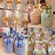 Natural eco box for present Wedding Gift Wrapping, Wedding Gifts, Bisnis Ideas, Eid Hampers, Paper Box Template, Diy Organisation, Diy Crafts For Home Decor, Ramadan Gifts, Cookie Packaging