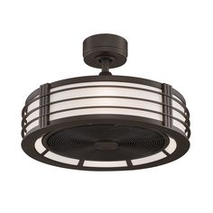 Fanimation Beckwith 12.5-inch 4-light Ceiling Fan (Oil-Rubbed Bronze) (Aluminum)