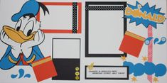 Donald Duck 12x12 Premade Layout by StinknCuteCrafts on Etsy