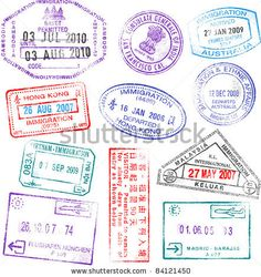 Highly detailed passport stamps vector by fourleaflover on VectorStock® Free Vector Images, Vector Free, Online Signs, Notes Online, Travel Stamp, Image Formats, Passport Stamps, Branding, Stickers