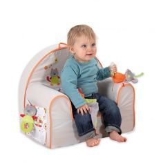Beau Toddler Size Chair Padded Armchair Comfortable Kids Nursery Furniture New  #Candide