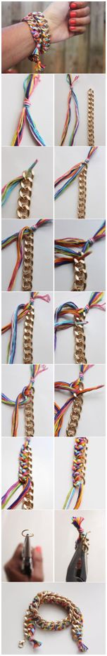 How to revamp an old gold bracelet - full instructions to combat school holiday boredom