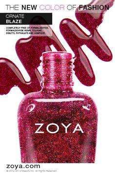 Zoya Nail Polish in Blaze from the Zoya Ornate Collection Holiday 2012/2013 www.zoya.com/content/38/item/Zoya/Zoya-Nail-Polish-in-Blaze-ZP641.html?O=PN121001MO13242