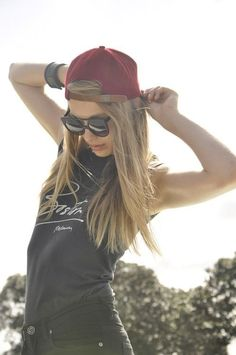Aint nothing more fierce than a girl in a snapback!