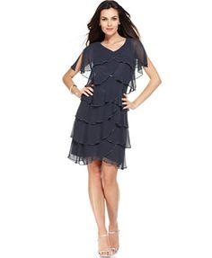 f43e8f2ecf6 Patra Split-Sleeve Tiered Dress 1920s Fashion Dresses
