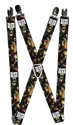 Walking Dead Horror TV Series Walker Angry Faces Logo Suspenders @ niftywarehouse.com #NiftyWarehouse #WalkingDead #Zombie #Zombies #TV