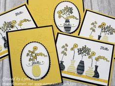 Learn how to create some super cute cards featuring the Stampin Up Varied Vases stamp set. You will also learn a few tips for using the vases builder punch Card Making Tutorials, Making Ideas, Stamping Up Cards, Paper Cards, 3d Cards, Card Kit, Card Card, Flower Cards, Cute Cards