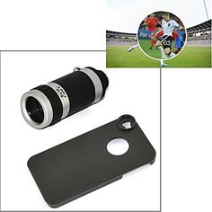 USD $ 13.99 - Telescope 8X Zoom Telephoto Long Focal Camera Lens with Case for iPhone 5/5S, Free Shipping On All Gadgets!
