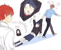 ^_^ Gekkan Shoujo Nozaki-kun / face from Spirited away Anime Ai, Comic Anime, Manga Anime, Awesome Anime, Anime Love, Manhwa, Chibi, Monthly Girls' Nozaki Kun, Otaku