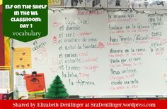 Elf on the Shelf for Spanish Class: Students describe donde está el duende.