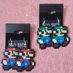Super Mario Bros. Pixel Earrings by ZoZoTings on Etsy