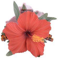 Edle Tiki HIBISKUS Blüten FLOWER Haarspange SCHMUCK Rockabilly in versch. Farben