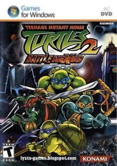 Teenage Mutant Ninja Turtles 2 Battle Nexus is a third person beat 'em up video game for the Nintendo GameCube. This game is developed and published Gamecube Games, Playstation Games, Xbox Games, Playstation Portable, Teenage Mutant Ninja Turtles, Ninja Turtles 2, Mega Drive 2, Juegos Ps2, Wii
