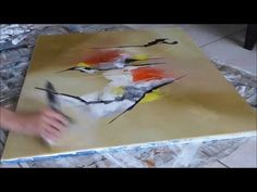 Abstract acrylic painting - Démonstration peinture abstraite par Althea - YouTube