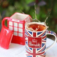 Harrods Union Jack tea mug Harrods, British Things, Cuppa Tea, London Calling, Union Jack, British Style, High Tea, London England, Tea Time